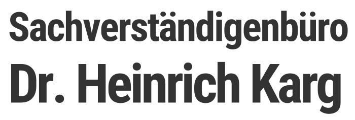 Sachverständiger Dr. Heinrich Karg